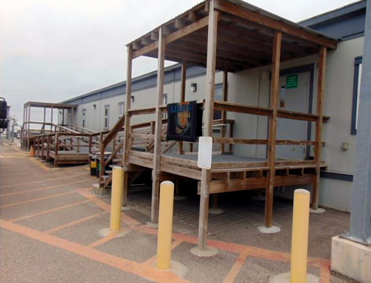 Jobsite Corpus Christi Double Wide Modular Office. Precision Structures Inc.